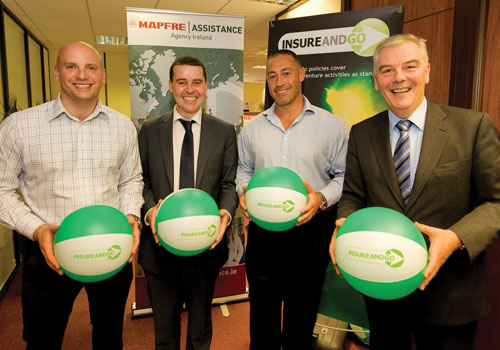 Pictured (left to right) is Mark Emblin (E commerce manager, INSUREANDGO), David Mahon (E commerce manager Ireland Assist Ltd./ Mapfre Assistance), Mark Izzard (E commerce director, INSUREANDGO), and Marco Magliocco (managing director, Ireland Assist Ltd. / Mapfre Assistance)