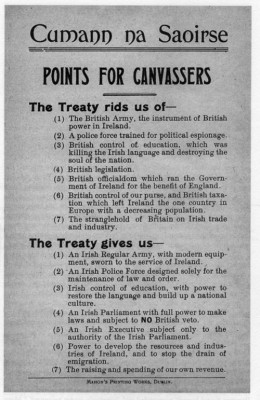 What the Anglo Irish Treaty gave: A pro-Treaty election pamphlet for general election 1922