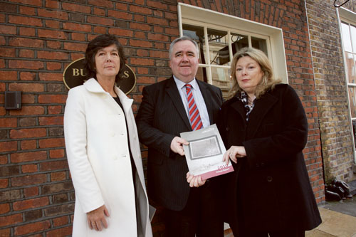 Pictured at the launch of Threshold's 2010 annual report last week were : Deirdre Murphy, manager for Threshold's Western Branch; Willie Penrose TD; and Aideen Hayden, chairperson of Threshold. Photo: Maxwell's Photography.