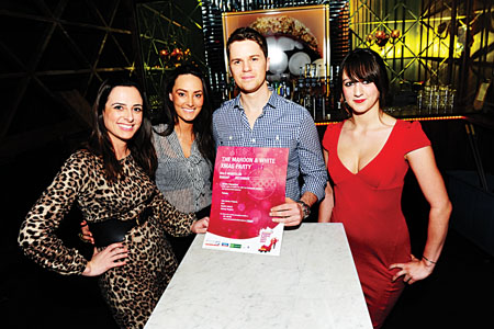 Pictured at the launch were Roisín Ní Thomáin (TG4), Caoimhe McClafferty (Former Miss Galway and Catwalk Model), Glenn Burke (The Elastic Band) and Lisa Penski (Halo Hostess)