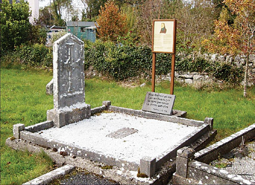 Raftery's grave at Killeeneen, near Craughwell - The headstone was erected on August 26 1900, sixty five years after his death.