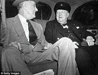 Franklin D Roosevelt and Winston Churchill- 'Stayed up until 2am or 3am drinking brandy and smoking'.