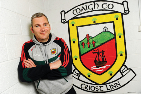 Back in action: Mayo manager James Horan will be putting his first Mayo team of 2012 into action on Sunday, when the FBD League throws in against Leitrim. Photo: Sportsfile.