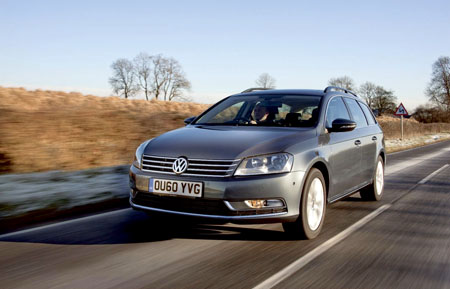 The Volkswagen Passat which has won the Top Towcar of the Year 2011