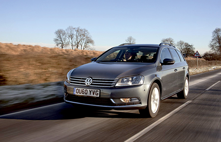 Picture shows the Volkswagen Passat which has won the Top Towcar of the Year 2011.