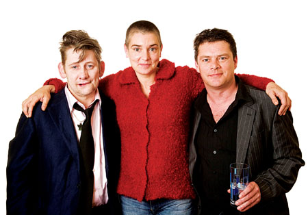 Shane McGowan, Sinead O'Connor, and Olaf Tyaransen. Photo: Mick Quinn