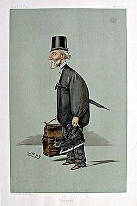 Unpopular man: Clanricarde as caricatured by Spy (Leslie Ward) in Vanity Fair,  May 1900