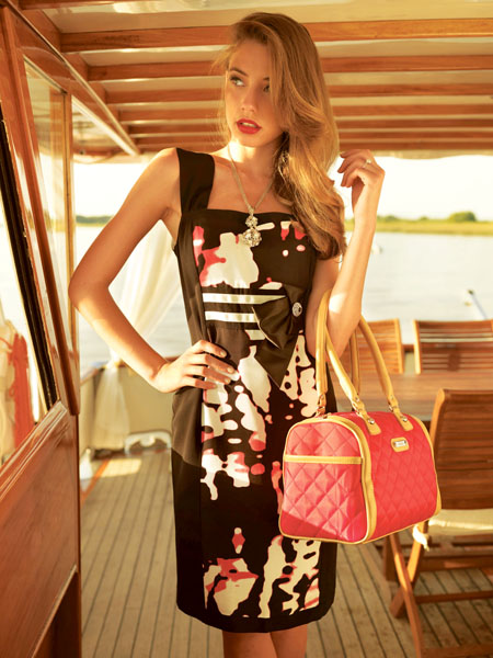 Gold by Michael H, black and white dress with hot pink accent €175.99