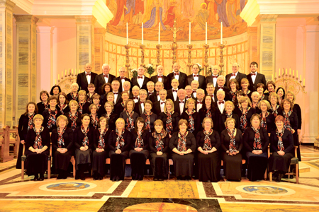 Pictured are members of Mullingar Choral Society who will hold their main concert of the season this weekend with the Choir of the Cathedral of Christ the King and Cor Scoil Mhuire.