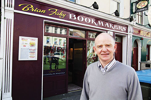 Brian Fahy Bookmaker - Woodquay, Knocknacarra and Ballinasloe.  Photo:-Mike Shaughnessy