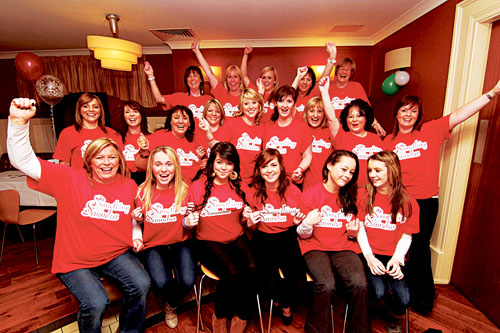 The organising committee of  'Something for Saundra' a walk on Sunday (Mother's Day) in memory of the late Saundra O'Connor. The event will start at Mervue GAA club house at 1.30pm walking to Ballyloughane Beach to raise money for ACT Meningitis, Rosedale House and Galway Speeders.  Photo:-Mike Shaughnessy