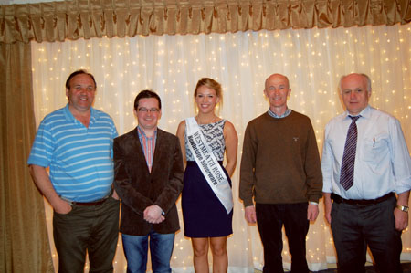 Liam Claffey, Michael O'Brien, Aisling Baker, Terry Coughlan, John Joe Claffey, members of the Moate Partnership organising committee.