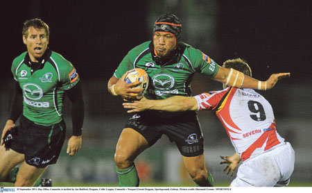 Flanker Ray Ofisa will play his final interprovincial for Connacht against Ulster on Saturday.  The popular and unassuming Samoan, who has been a key player throughout his six years, has become a firm favourite in the province for his huge commitment and workrate in the back row. He leaves Connacht at the end of the season.