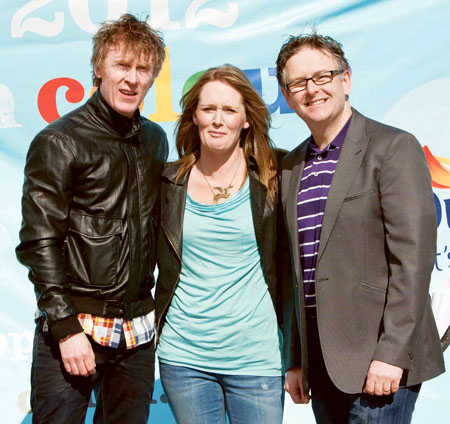 The Dulux Positivity Panel 2012: Hector Ó h'Eochagáin, Eleanor Harpur, and Dr Eddie Murphy