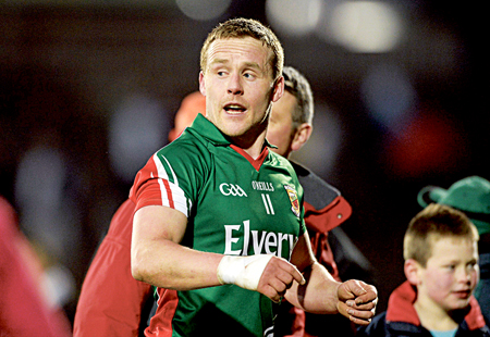 The new leader: Andy Moran has been given the full time job as Mayo captain. The Ballaghaderreen man has been one Mayo's leaders on the field for the last few years. Photo: Sportsfile.