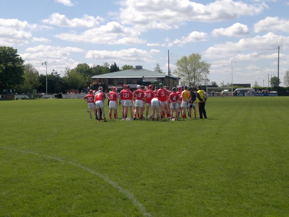 Ready for action: The Mayo hurlers ready themselves for action last Saturday.