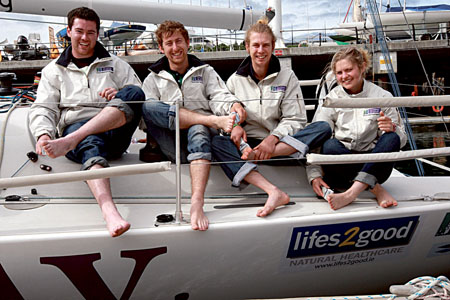 NUIG  crewmembers can relax after the latest edition of the Round Ireland Yacht Race.