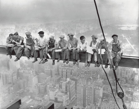 Lunch Atop A Skyscraper, the famous 1932 photograph by Charlies C Ebbets.