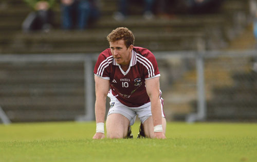 A dejected Gary Sice, Galway, after the game. GAA Football All-Ireland Senior Championship Qualifier, Round 2, Antrim v Galway, Casement Park, Belfast, Co Antrim.  Picture credit: Oliver McVeigh / SPORTSFILE