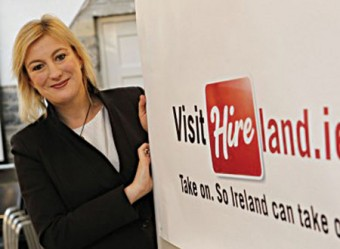 Lucy Masterson,  co-founder of Hireland.