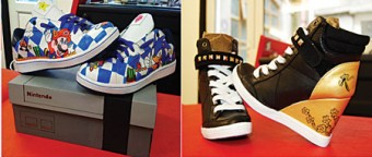 LO-Res Custom Sneakers now available at Vinny's Tattoo Studio, Dominick St