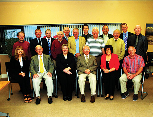 Directors at the St Columba's Credit Union AGM in 2012.  Standing L to R: Liam Kelly, Padraig O'Callaghan, Terry Flaherty, Richard Noone, Jim Naughton, Henry Diviney, Austin Sammon, Jimmy Murray, Michael Duffy, Pat O'Sullivan, Frank Lohan, Liam Bluett.  Sitting L to R: Eileen Dunleavy, John Lenihan, Edith Coppinger, Paddy O'Donnell, Phil Grealish, Tom O'Connor