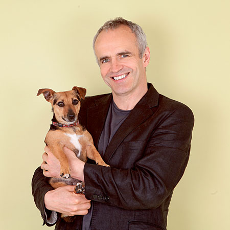 TV vet and MADRA patron Pete Wedderburn launching MADRA's 24 hour dog adoption event.
