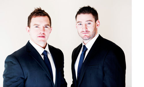 Conor O'Loughlin and Keith Matthews launch new rugby talent management agency, Core Sports. Photo: Reg Gordon
