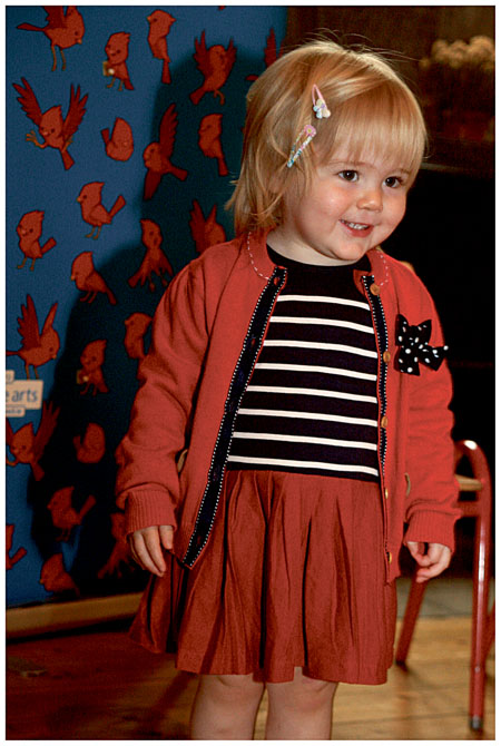 Éadaoin Cleary age 20 months at the Baboró Festival launch.  Photo- Marina Levitina.