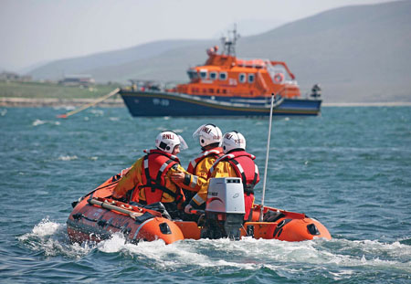 Ballyglass RNLI all weather and inshore lifeboat.