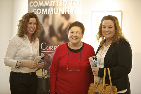 Pictured at the launch of Erris Enterprise Week in Áras Inis Gluaire, Belmullet, were, from left: Rose Kennedy, Nora Mai Walsh, and Katy Healy.