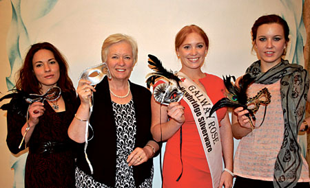 Delilah Bouakkaz, fashion stylist and judge for best dressed competition, Anne Geraghty, director of services, Brothers of Charity Galway, Anna De Paor, Galway Rose 2012 and Cathy Donohue, Galway Now Magazine and judge for best dressed competition.