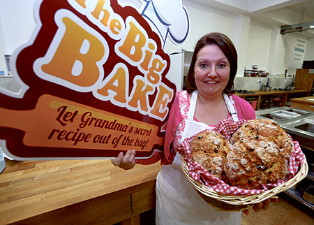 Jill Neary from Ballina pictured with her fruit soda bread, which made it to the final of The Big Bake in Cook's Academy in Dublin. The Big Bake is a Positive Ageing Week event organised by Age Action and supported by Bluebird Care.