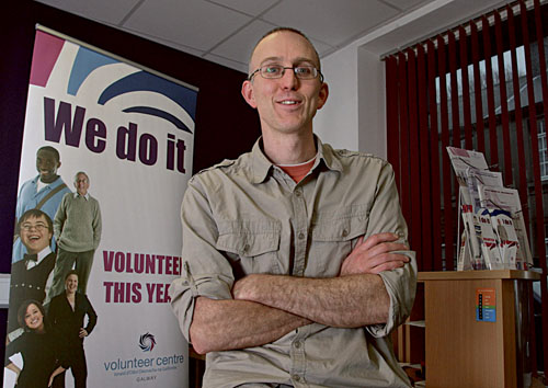 Donncha Foley, the development manager of Galway volunteer centre.