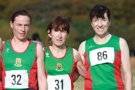 Heading for the masters:Colette Tuohy, Angela O'Connor, Pauline Moran will represent Ireland at the British and Irish Masters Cross Country championships.
