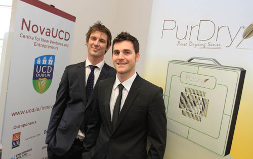 Pictured (l-r) at NovaUCD are PurOrigin's promoters Finbarr Maguire and David Ronan who have both just completed master's of engineering degrees in energy systems at the UCD School of Mechanical and Materials Engineering.