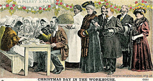 The guardians and their ladies: a visit to the workhouse on Christmas Day.