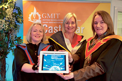 GMIT Lecturers Sharon Boyle, Janine McGinn and Noreen Henry, three of the lecturers involved in designing the new digital media and society degree.