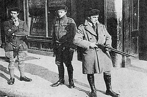 Dangerous times: A group of Black and Tans on duty.