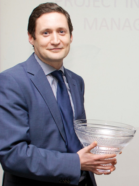 Gavin Murphy, the Institute of Project Management's 2012 Graaduate of the Year award winner.