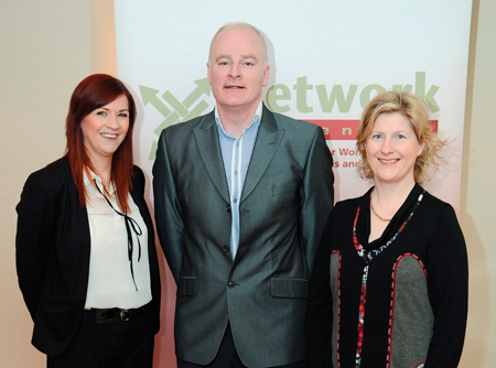 Orla Seery, Tommy Marren and Caroline Gordon at the Network Mayo presentation 'Demystifying the Media, Part 2'.