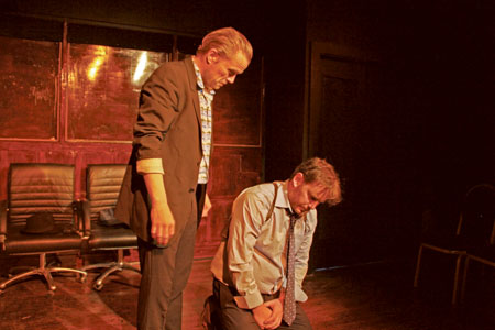 Patrick O'Donnell and Simon Toal in Long Hard Kiss Goodbye