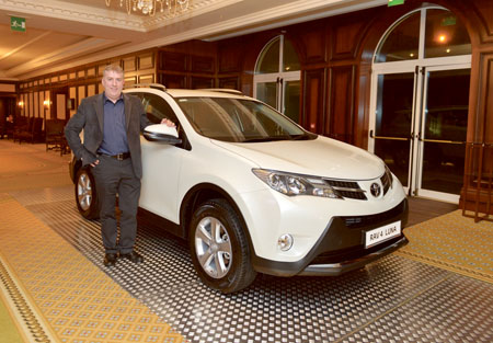 Pictured at the recent launch of the new Toyota RAV at Ritz Carlton in Powerscourt, Co Wicklow last Friday was Paul Coleman, managing director of Grange Motors in Mullingar.