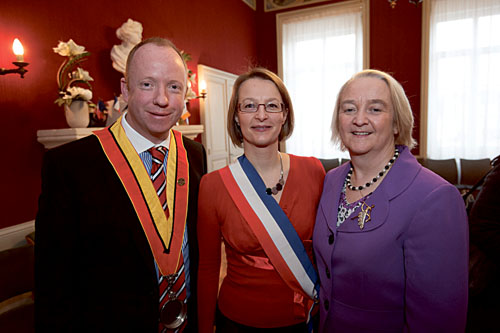 County manager Martina Moloney (right) pictured with her French hosts during the promotion.