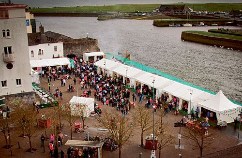 A scene from last year's inaugural event — but this year the Galway Food Festival has grown and grown.