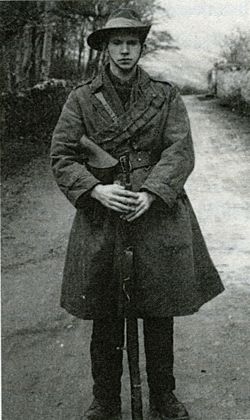 Petie McDonnell in full IRA uniform as OC West Connemara Brigade (courtesy of JJ Leonard and Anthony Leonard).