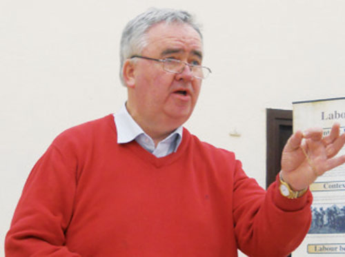 Deputy Willie Penrose speaking in Ballynacarrigy at the constituency's Labour Party AGM this week.