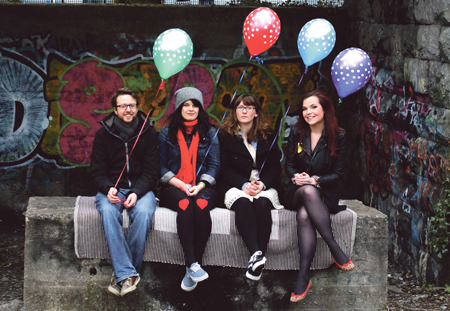 Galway band Dott (L to R) Tony Higgins, Anna McCarthy, Miriam Donohue, and Laura Finnegan. Pic:- Sinead Axworthy