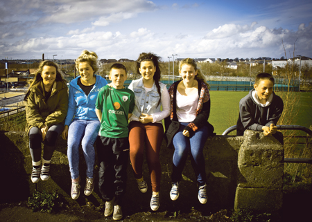 Members of the Bohermore Youth Drama Group.