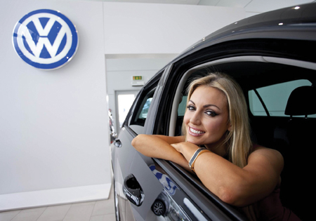 Volkswagen Golf Ambassador Rosanna Davidson is very happy with the new World Car of the Year (2013).
